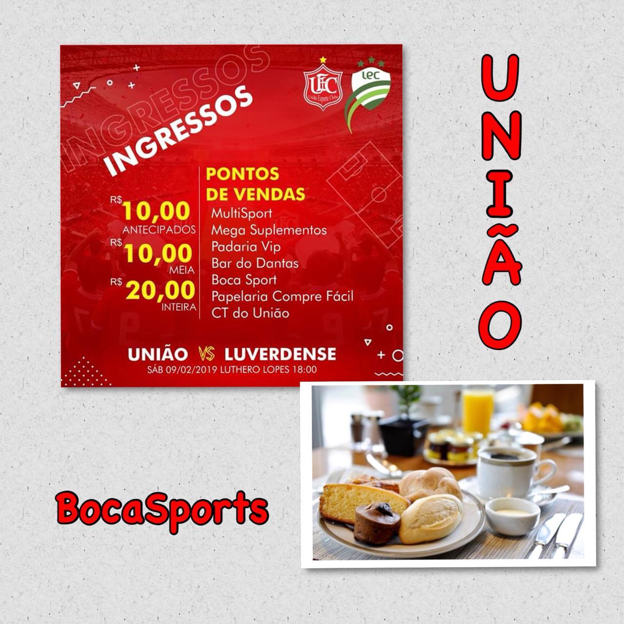 498d9996f Loja Boca Sports promoverá neste sábado (9) um delicioso café da manhã para  clientes e torcedores do União E.C - Cidade nos Esportes